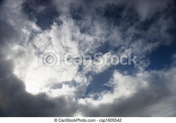 nublado, sky. - csp1605542