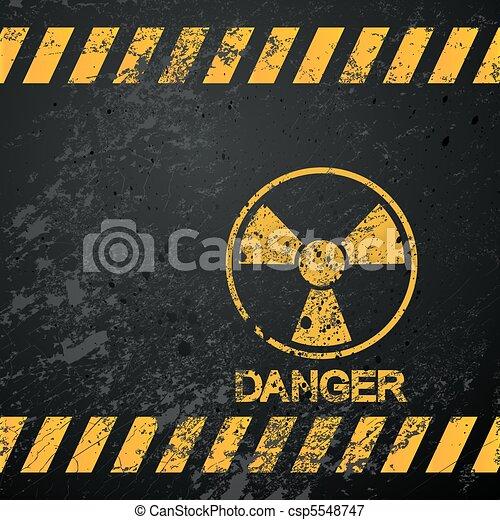 nucléaire, avertissement, danger - csp5548747