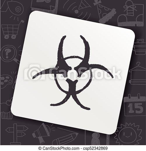 nuclear energy doodle - csp52342869