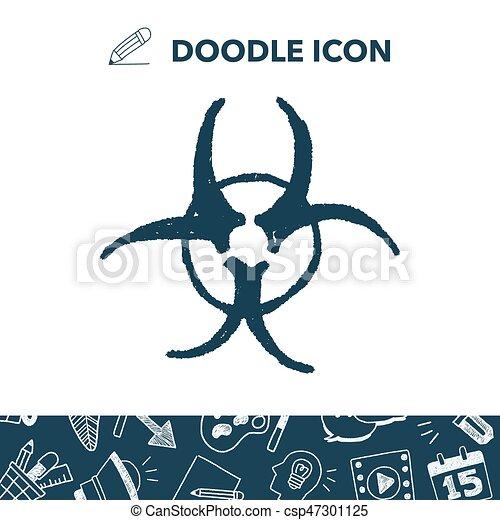 nuclear energy doodle - csp47301125