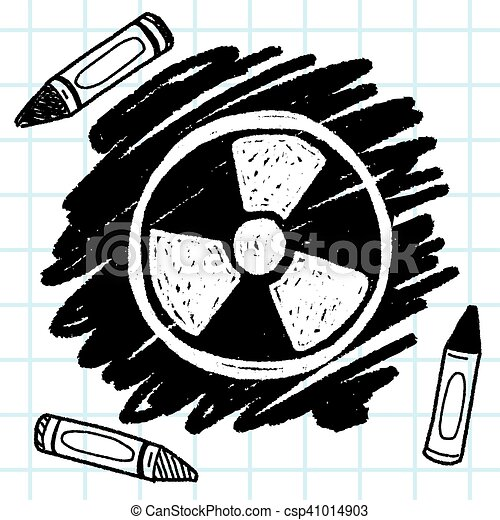 nuclear energy doodle - csp41014903