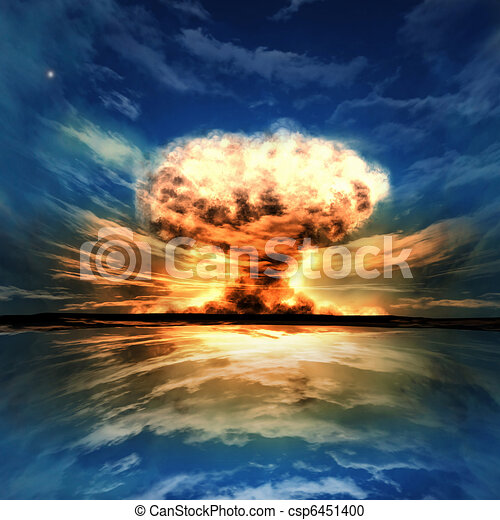 Nuclear explosion in an outdoor setting - csp6451400