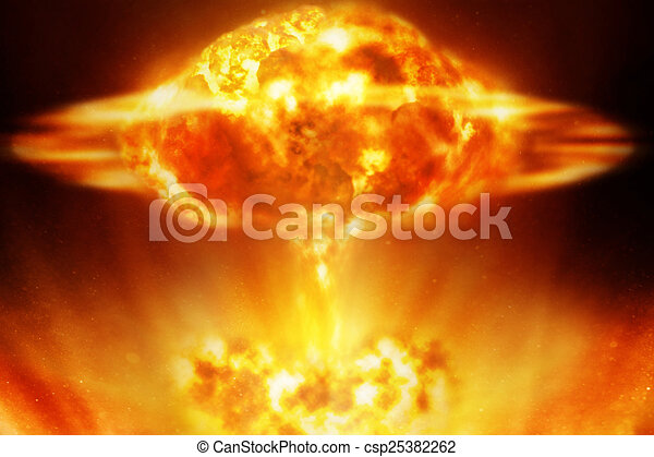Nuclear explosion - csp25382262