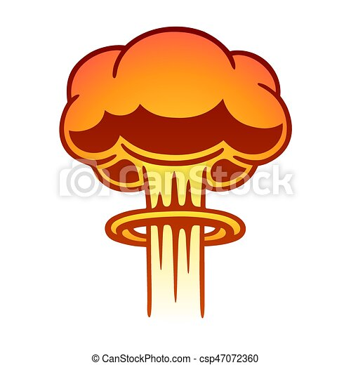 nuclear mushroom cloud cartoon comic style nuclear mushroom cloud rh canstockphoto com Mushroom Cloud Drawing Mushroom Cloud Drawing