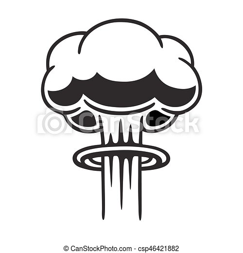 nuclear mushroom cloud cartoon comic style nuclear mushroom cloud rh canstockphoto com Mushroom Cloud Tattoo Design Mushroom Cloud Tattoo Design