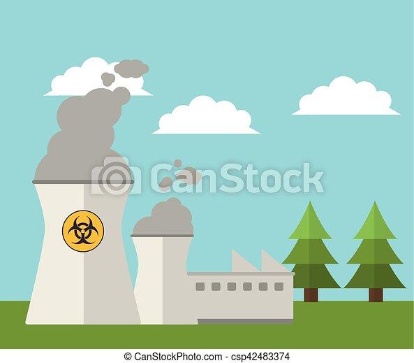 nuclear plant energy power landscape - csp42483374