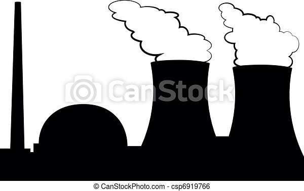 illustration of a nuclear power plant rh canstockphoto com gas power plant clip art power plant worker clipart