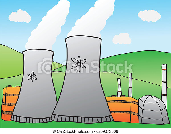 Nuclear Power Plant - csp9073506
