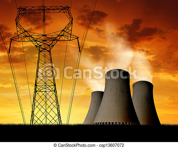nuclear power plant  - csp13607072