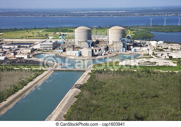 Nuclear power plant. - csp1603941