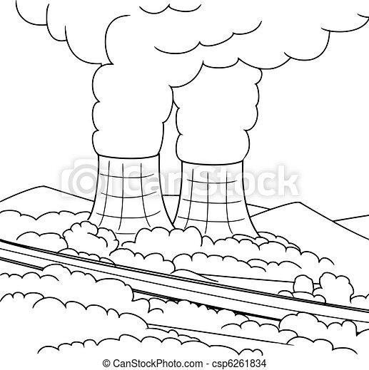 nuclear power reactor - csp6261834