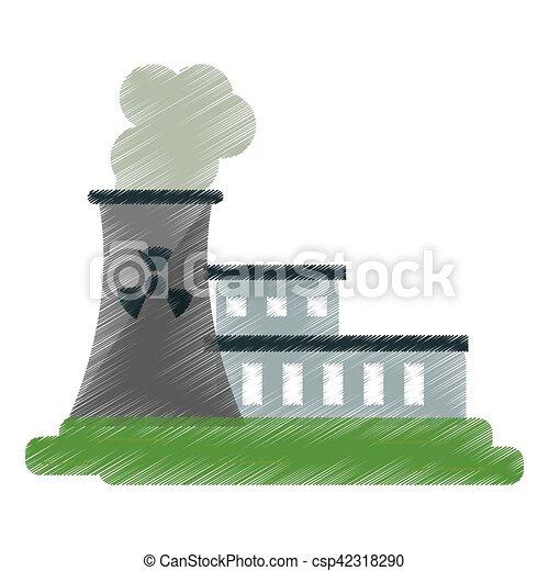 nuclear power station energy pollution ed - csp42318290