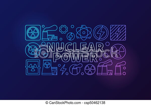 Nuclear power vector illustration - csp50462138