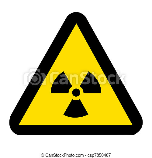 Nuclear Sign on white - csp7850407