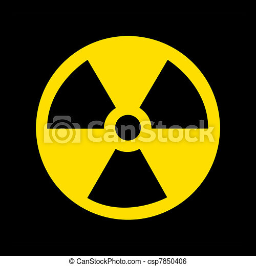 Nuclear Symbol on black - csp7850406
