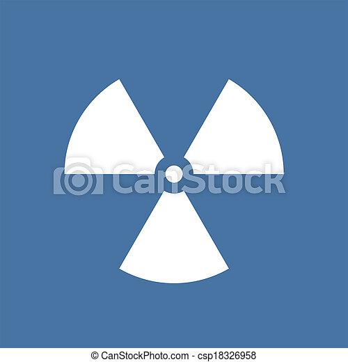 nucleare, simbolo, radiazione - csp18326958