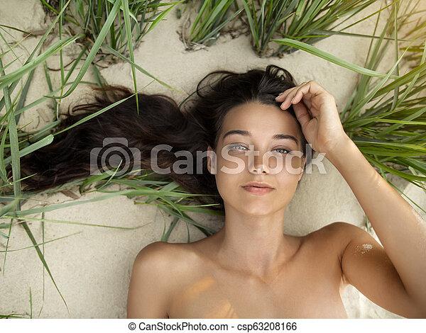 Man sleeping in the nude