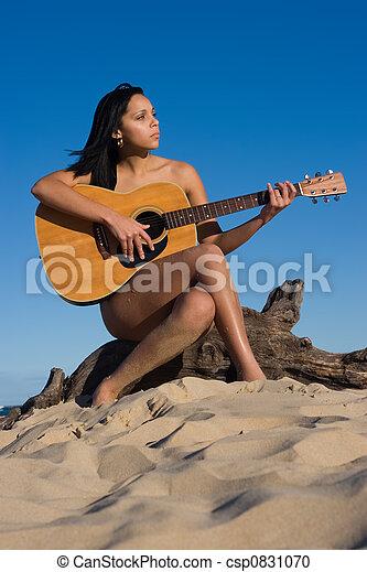 Consider, girl play guitar nude