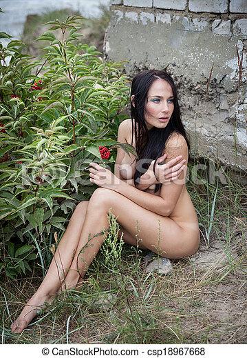 Nude womens boob