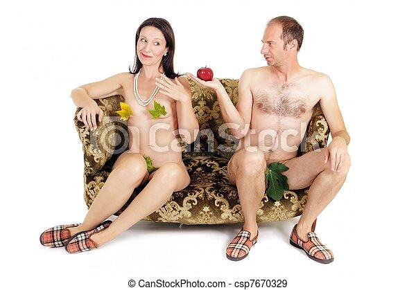 nudo, coppia, tentazione - csp7670329