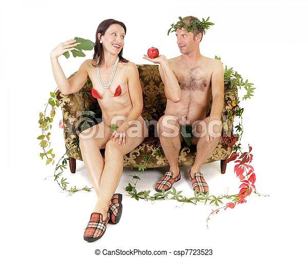 nudo, seduzione, coppia - csp7723523