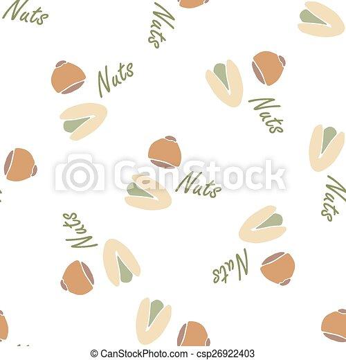 Coleccion de nueces textura azulejo ve - csp26922403