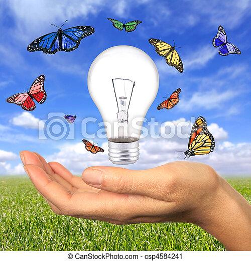 La energía renovable está a nuestro alcance - csp4584241
