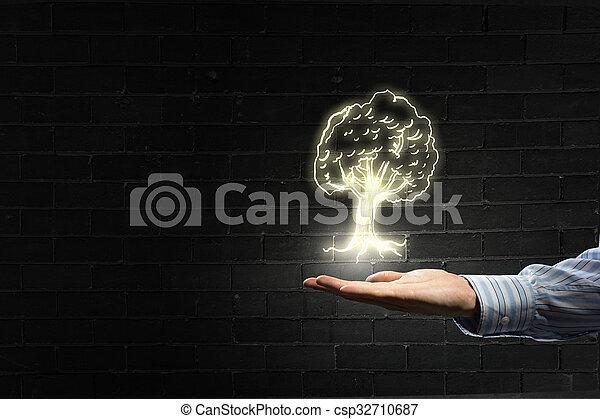 Protección de la naturaleza en nuestras manos - csp32710687