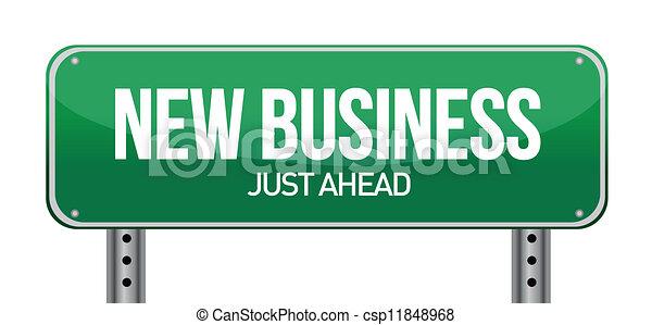 Nuevo signo de negocios - csp11848968