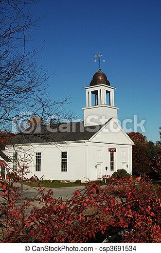 nueva inglaterra, iglesia - csp3691534