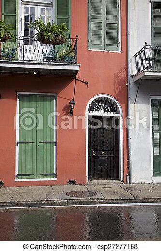 Nuevas orleanas, habitaciones francesas - csp27277168