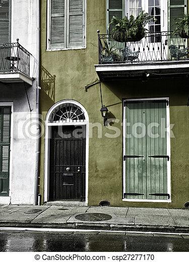 Nuevas orleanas, habitaciones francesas - csp27277170