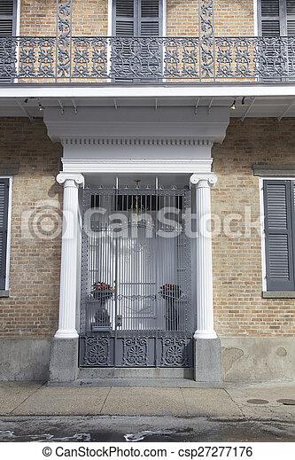 Nuevas orleanas, habitaciones francesas - csp27277176