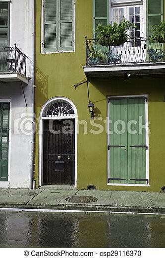 Nuevas orleanas, habitaciones francesas - csp29116370