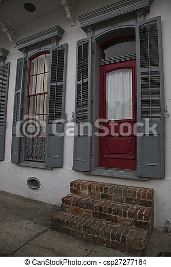 Nuevas orleanas, habitaciones francesas - csp27277184
