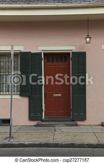 Nuevas orleanas, habitaciones francesas - csp27277187
