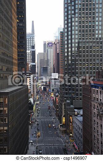 nueva york, calle., ciudad - csp1496907