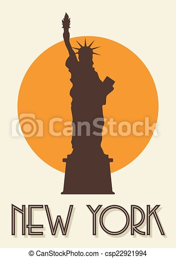 Un póster de Nueva York - csp22921994