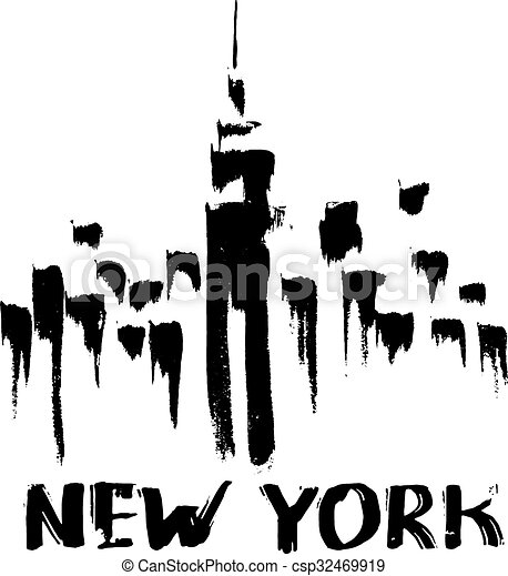 Los rascacielos de Nueva York - csp32469919