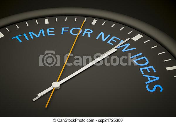 Hora de nuevas ideas - csp24725380
