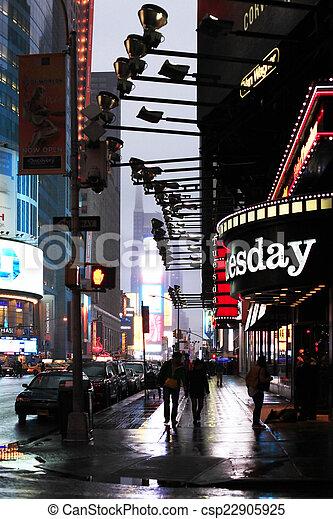 Times Square. Ciudad de Nueva York - csp22905925