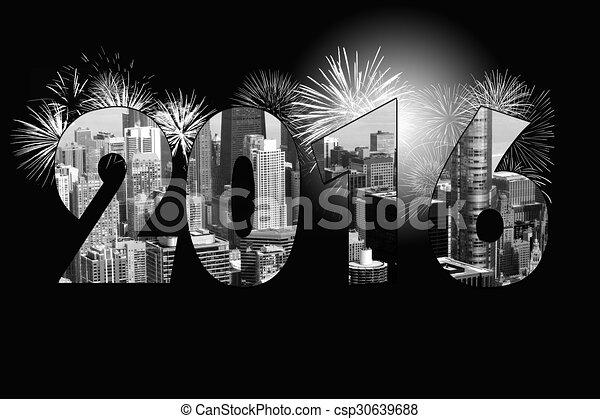 Año nuevo de Chicago 2016 - csp30639688