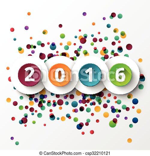 Feliz Año Nuevo 2016 celebración. - csp32210121