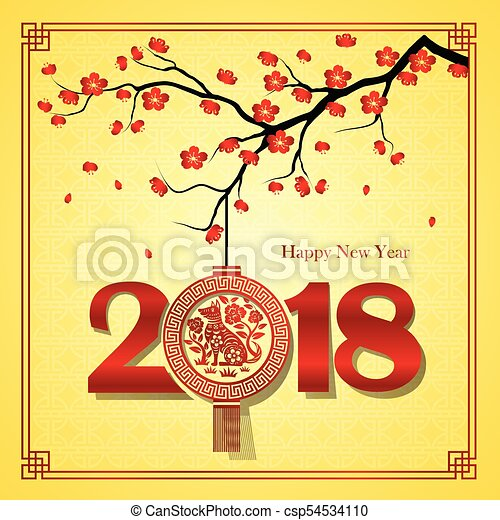 Año nuevo chino 2018 - csp54534110