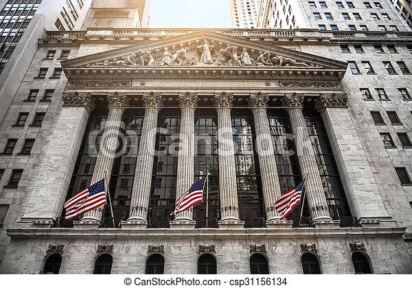 nuevo, acción, york, intercambio - csp31156134