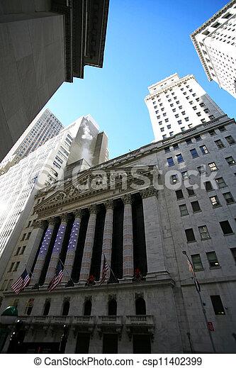 nuevo, acción, york, intercambio - csp11402399