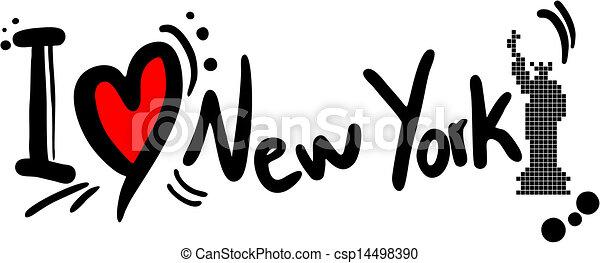 Me encanta Nueva York - csp14498390