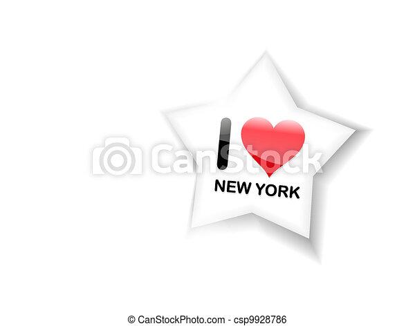 Me encanta el signo de Nueva York - csp9928786