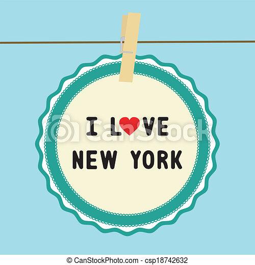 Me encanta Nueva York - csp18742632