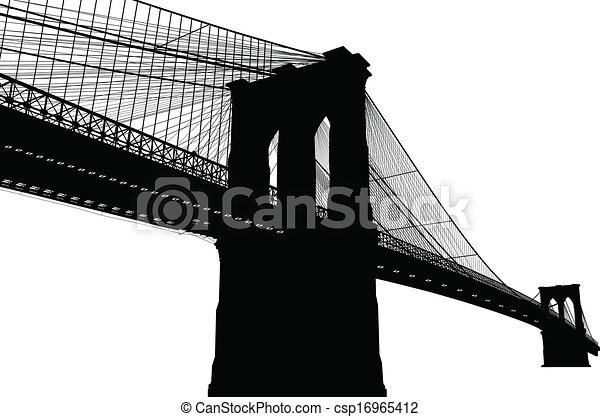 El puente Brooklyn de Nueva York - csp16965412